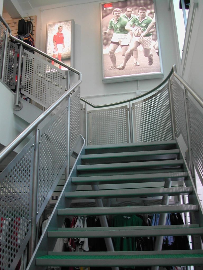 Sports+shop+staircase+London R & P Engineering Swindon